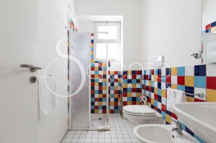 Il bagno è completo di doccia e phon